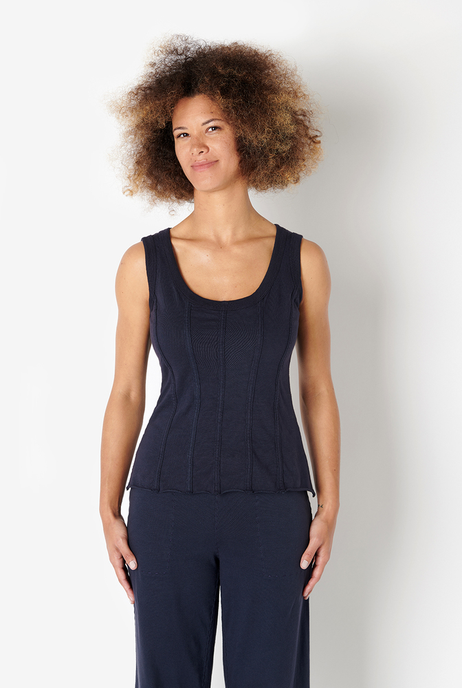 Alabama chanin womens fitted corset organic cotton top 3