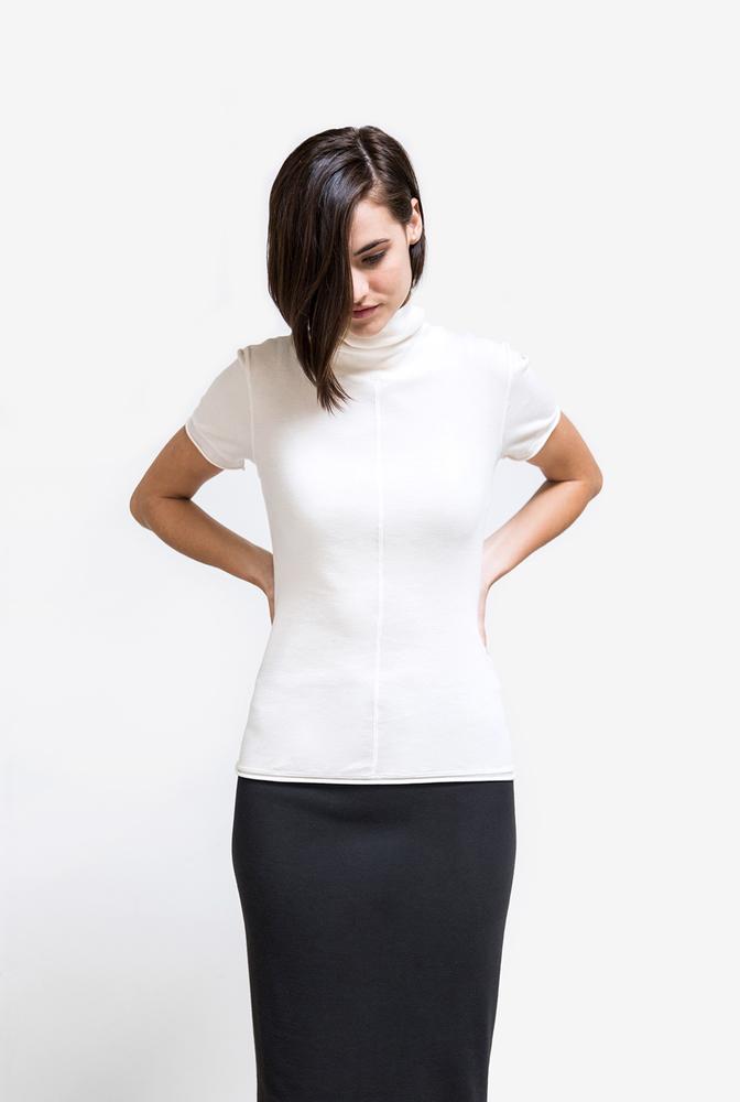 Alabama chanin womens turtleneck top organic cotton 4