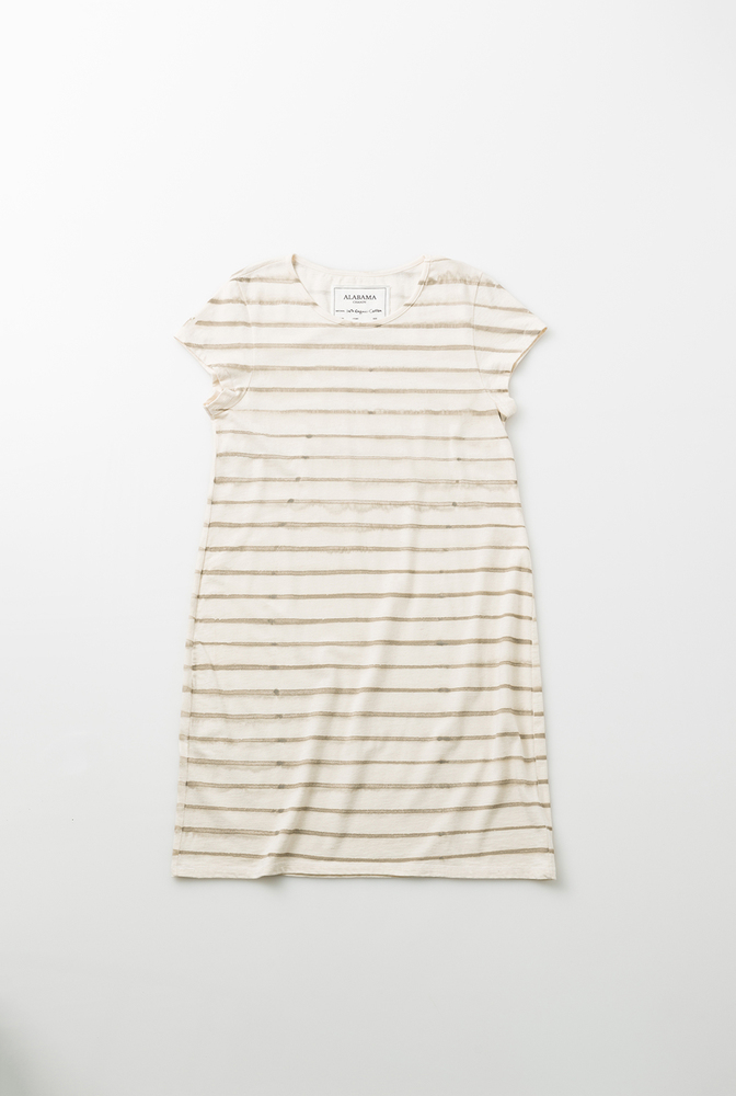 Alabama chanin casual cotton dress stripes 2