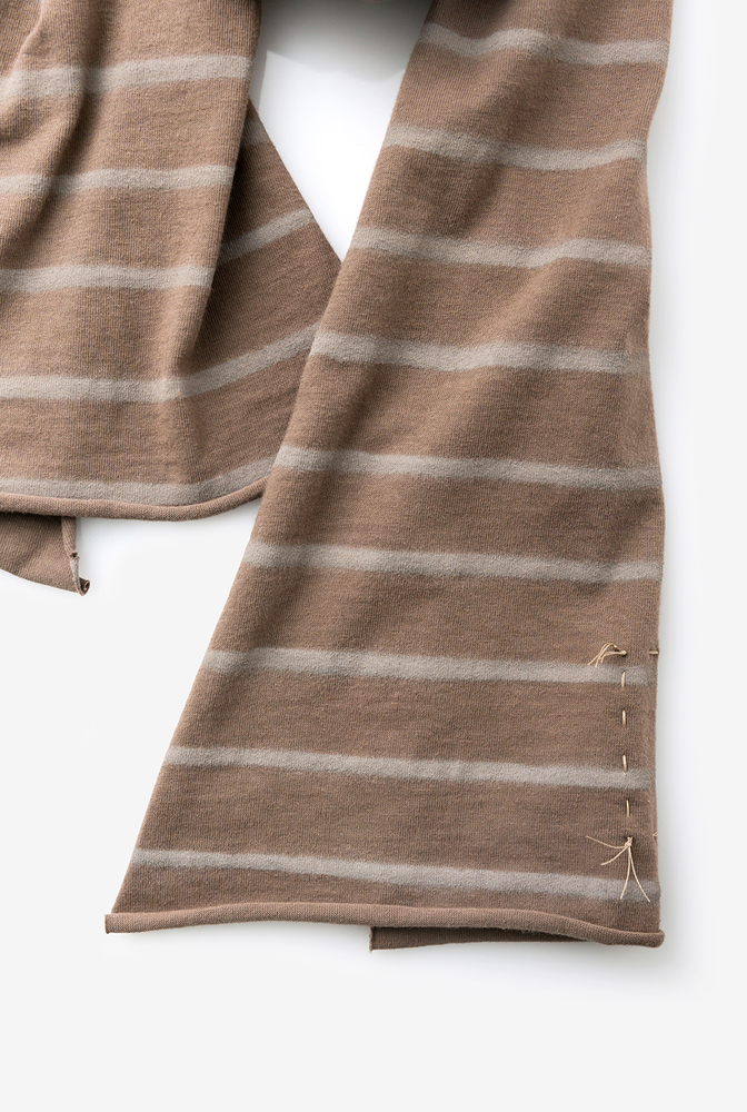 Alabama chanin cotton scarf stripe accessory 2