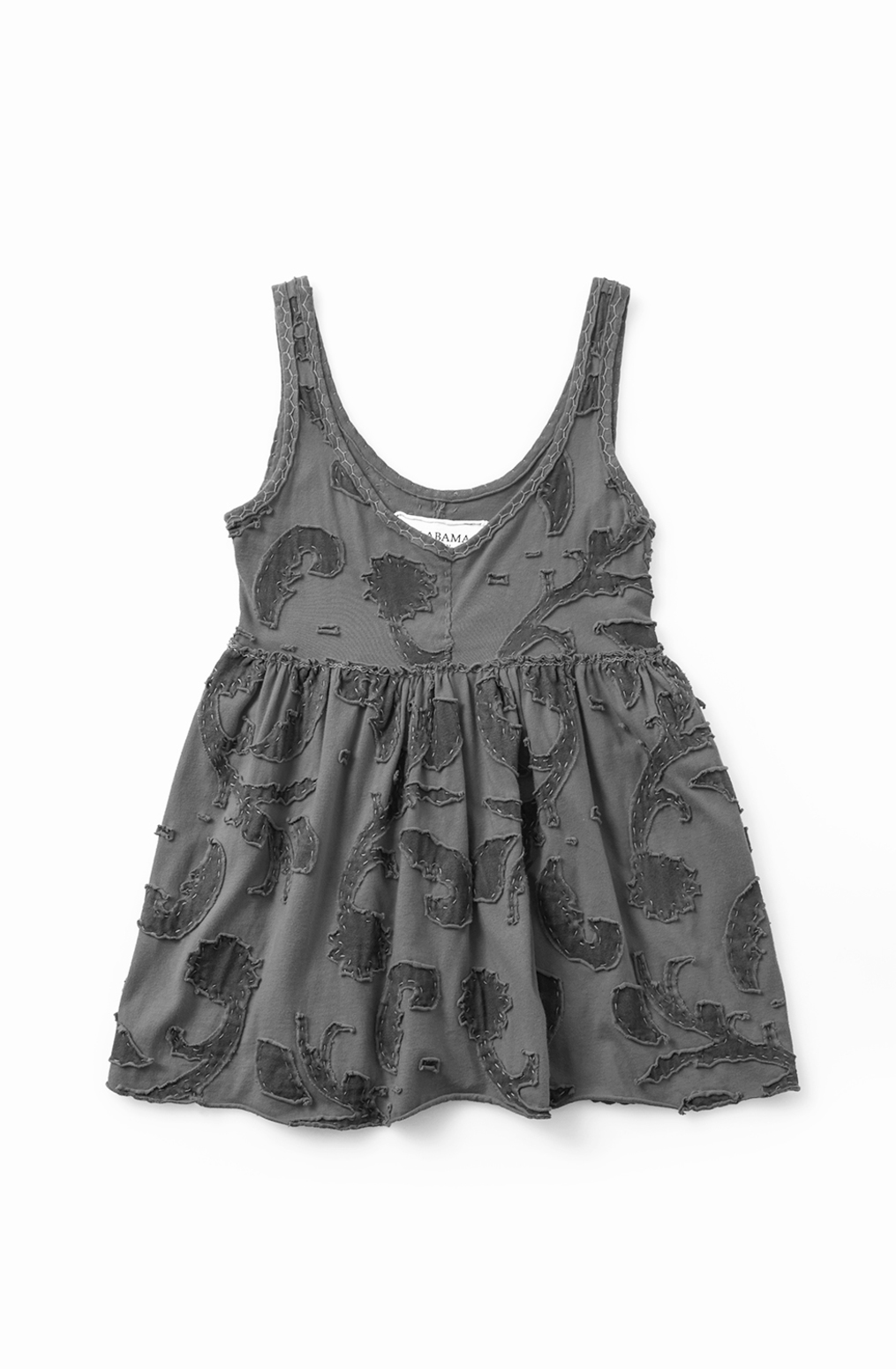 Fitted babydoll top   paisley   negative reverse   carmine   11687   abraham rowe 1   b w low res edit