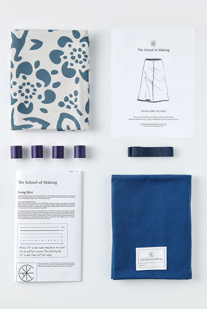 The school of making swing skirt printed fabric pattern bundle 5
