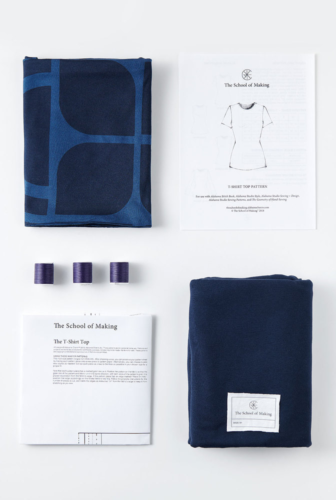 The school of making t shirt top printed fabric pattern bundle 2