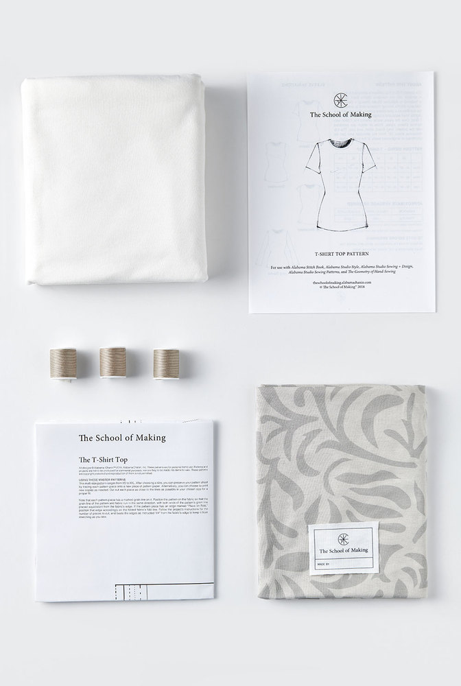 The school of making t shirt top printed fabric pattern bundle 4