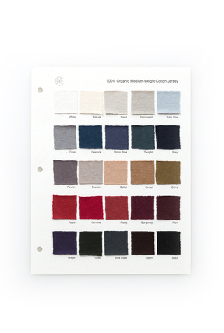 Organic Cotton Color Card