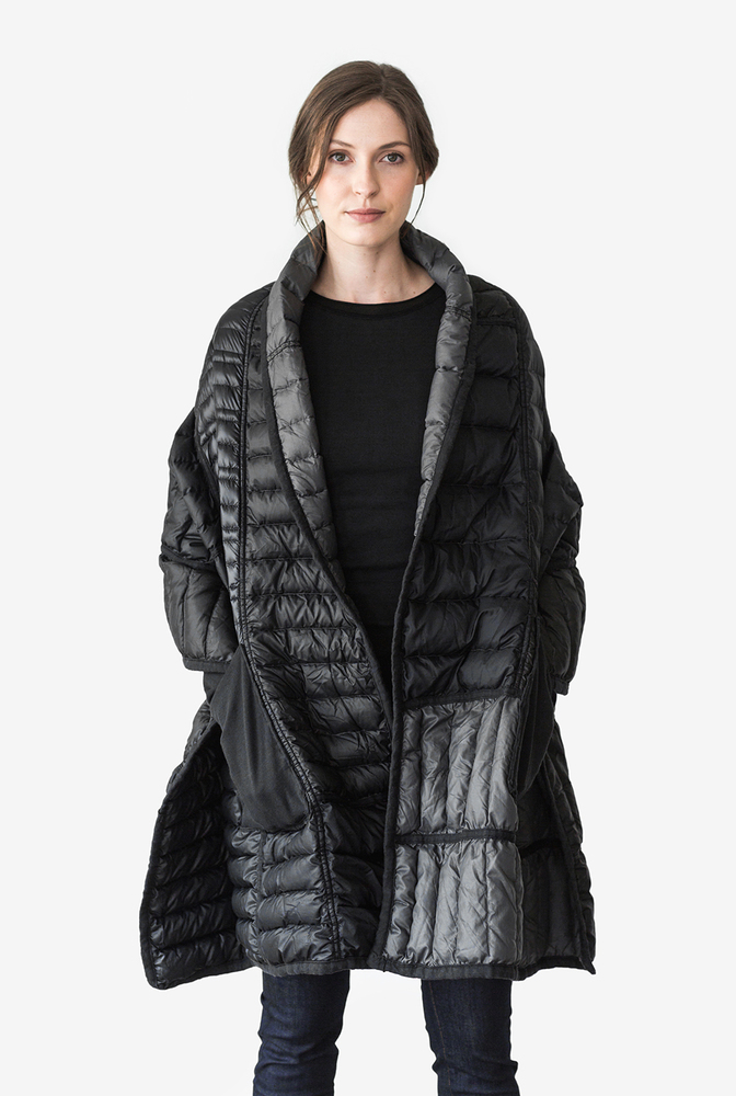Alabama chanin patagonia collaboration reclaimed down wrap accessory 1