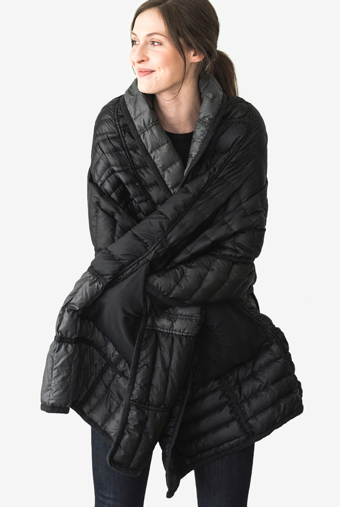Alabama chanin patagonia collaboration reclaimed down wrap accessory 4