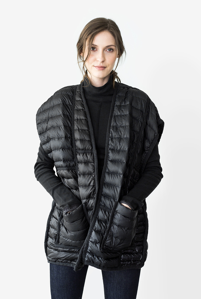 Alabama chanin patagonia collaboration reclaimed down vest accessory 1