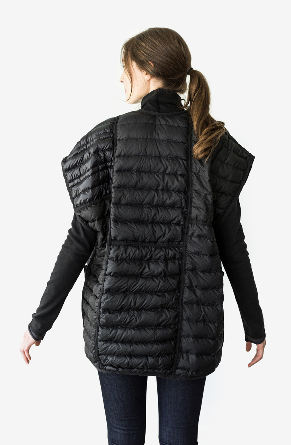 Alabama chanin patagonia collaboration reclaimed down vest accessory 2