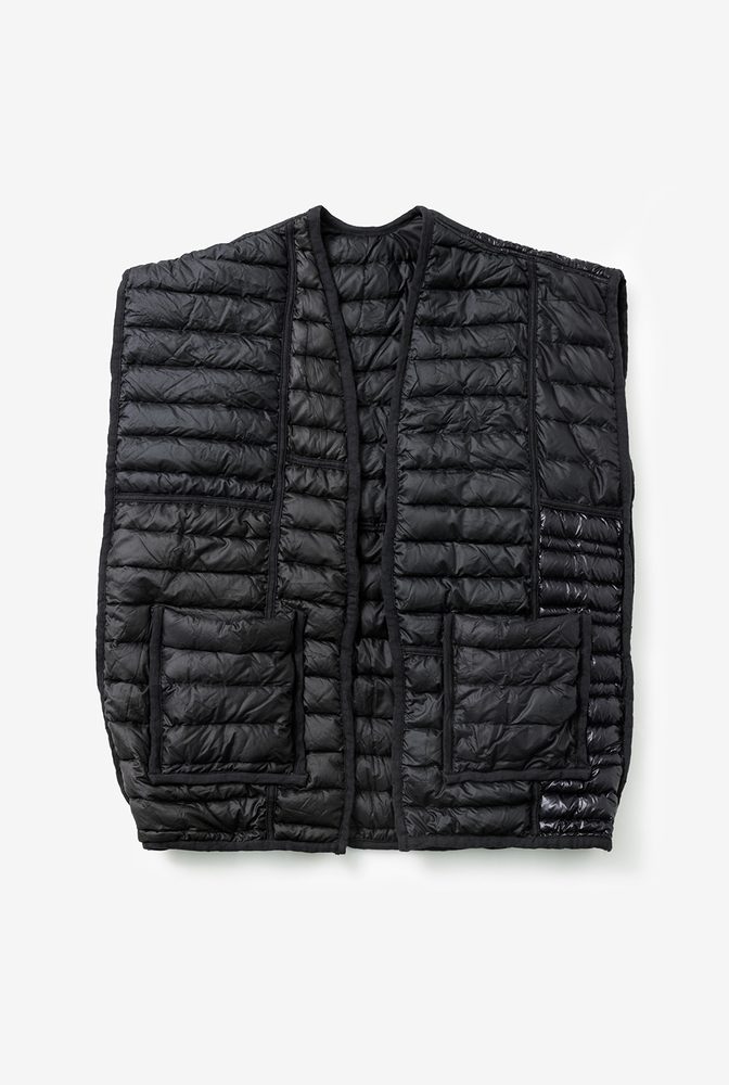 Alabama chanin patagonia collaboration reclaimed down vest accessory 3