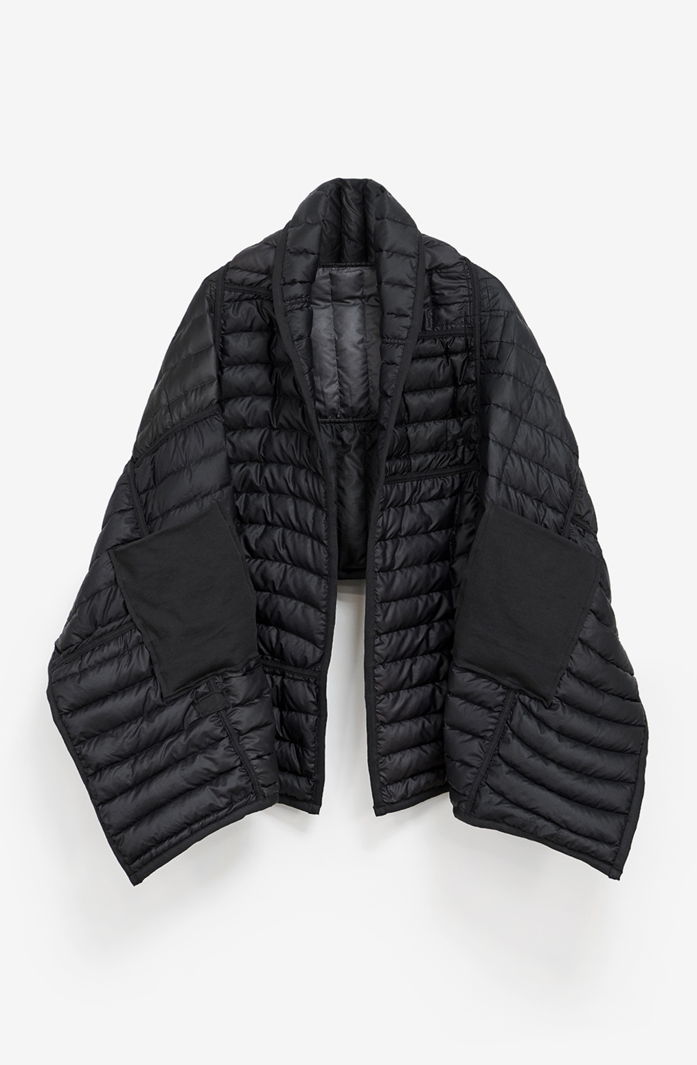 Alabama chanin patagonia collaboration reclaimed down wrap accessory 6