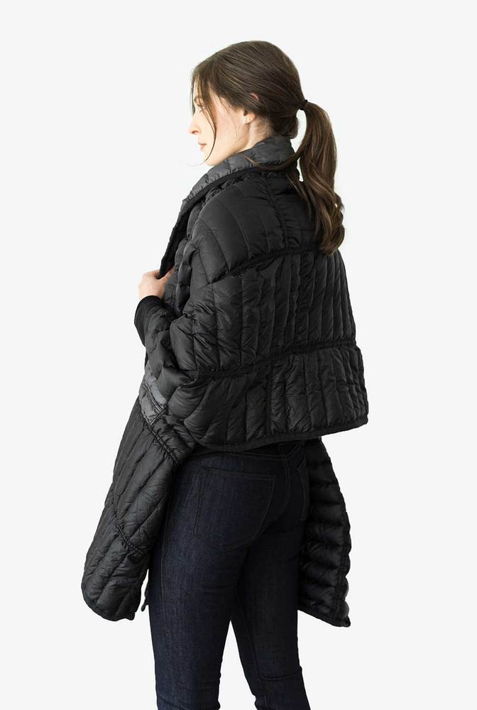 Alabama chanin patagonia collaboration reclaimed down wrap accessory 5