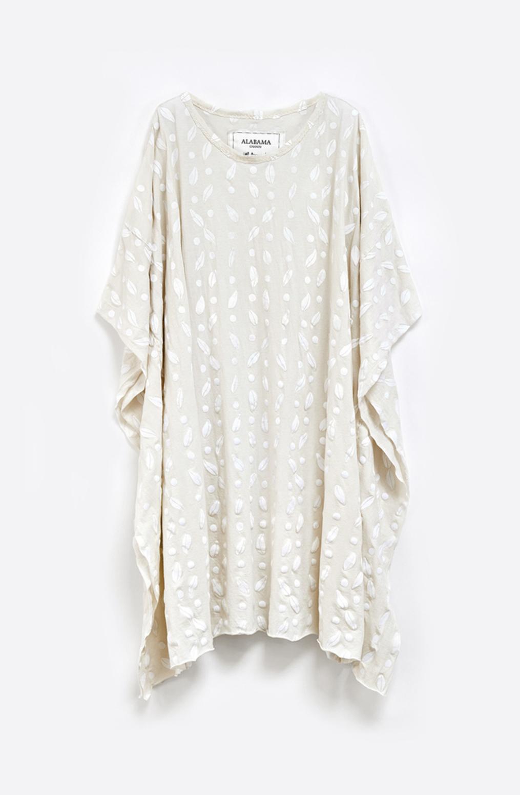 Alabama chanin womens caftan cotton dress 2