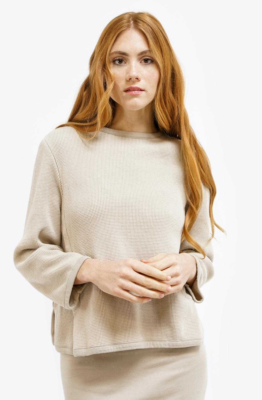 Alabama chanin womens fashion waffle knit top 2