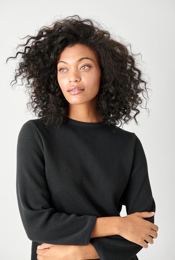 Alabama chanin womens fashion waffle knit top 7