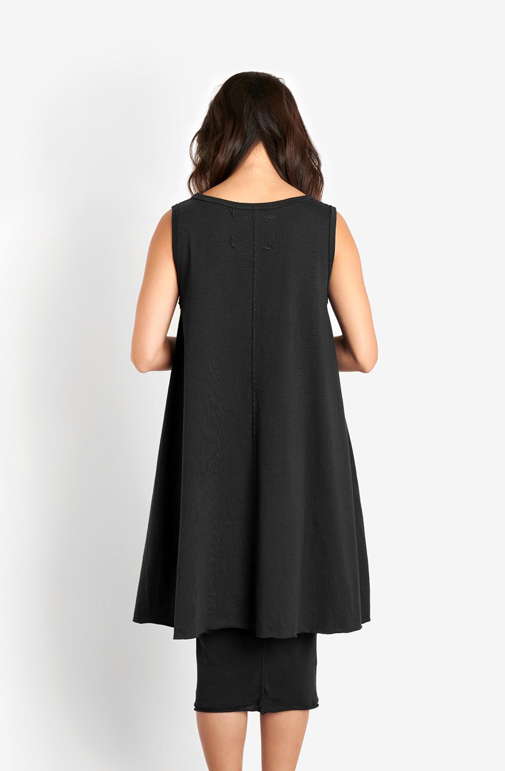 Alabama chanin keyhole cotton womens aline dress 1