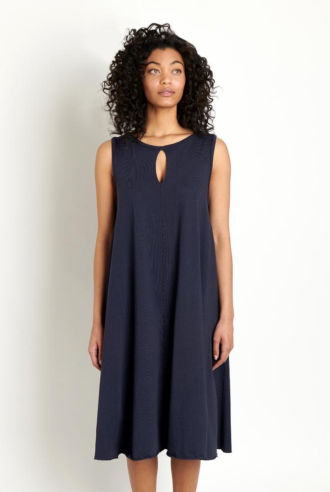 Alabama chanin keyhole cotton womens aline dress 2