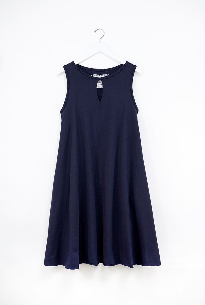 Alabama chanin keyhole cotton womens aline dress 3