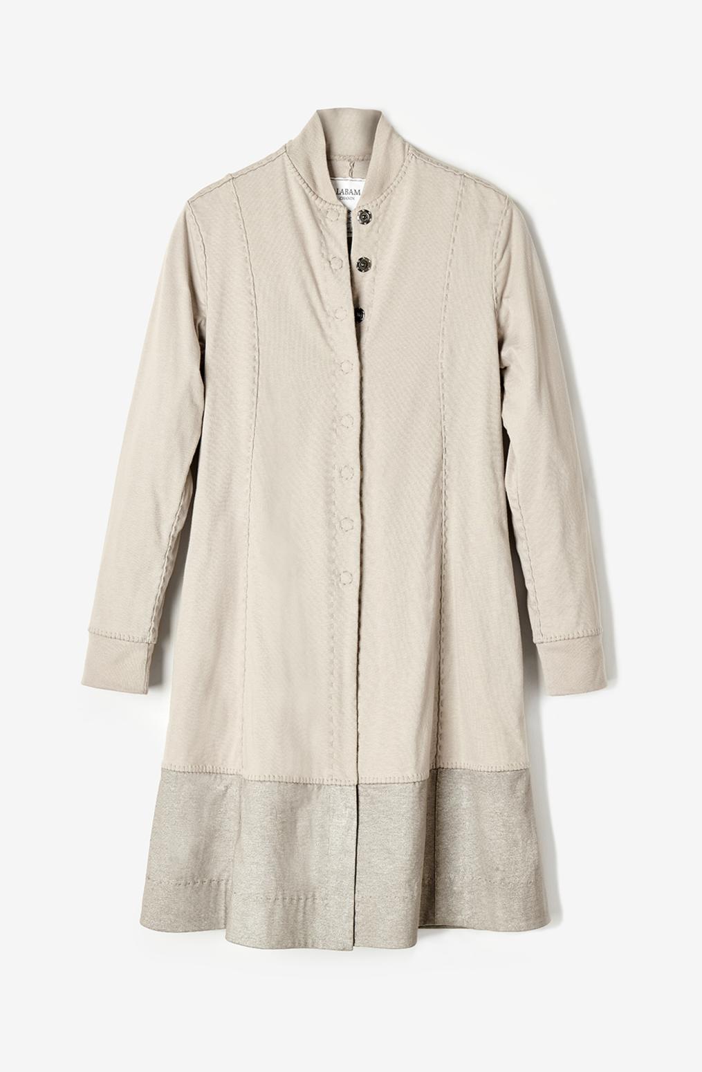 Alabama chanin womens cotton panel coat natalies coat 2