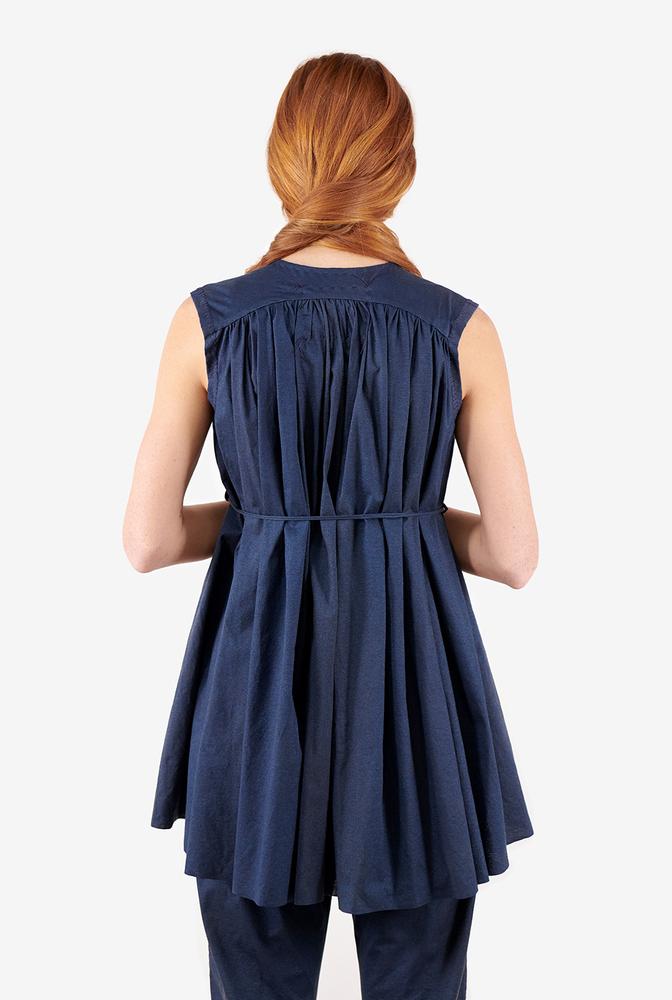 Alabama chanin womens organic cotton shirred lightweight tunic 5