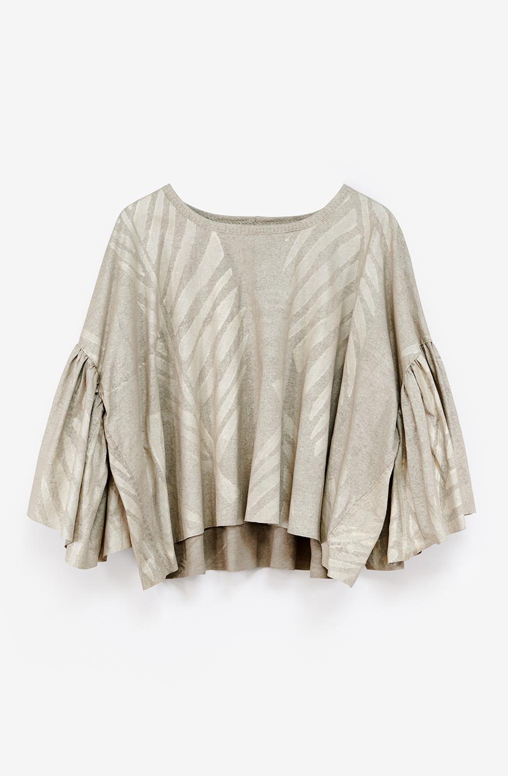 Alabama chanin metallic shirred womens hand sewn top 4