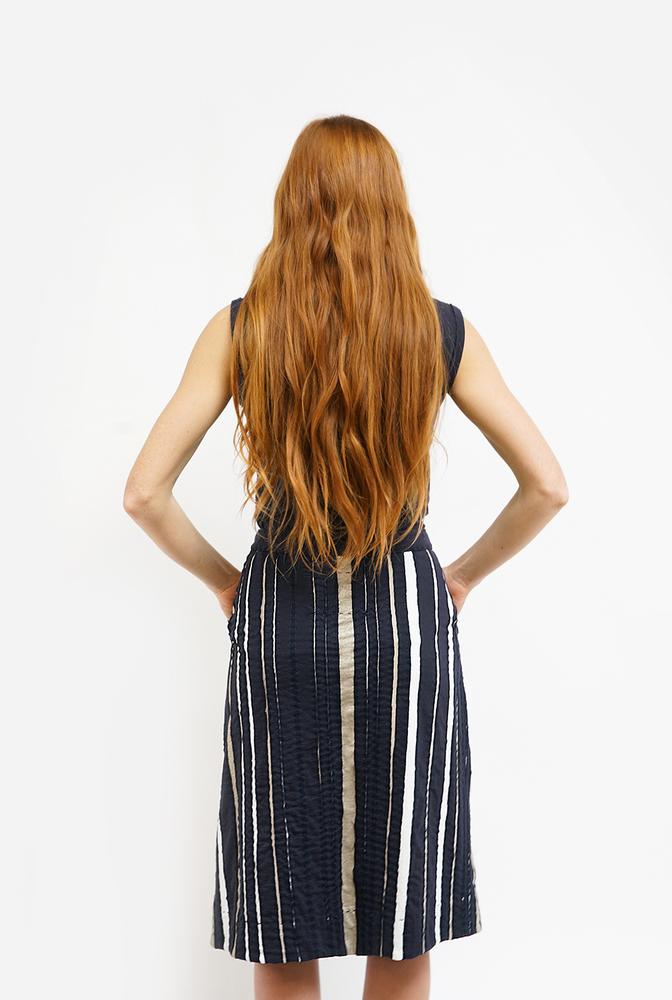 Alabama chanin womens striped wrap organic cotton skirt 1