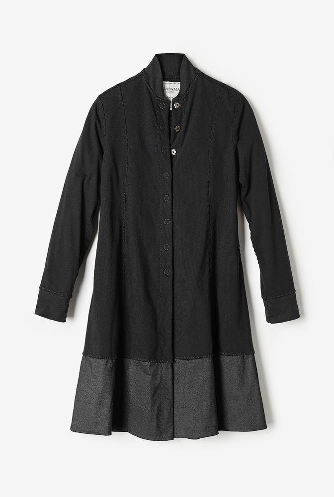 Alabama chanin womens cotton panel coat natalies coat 5