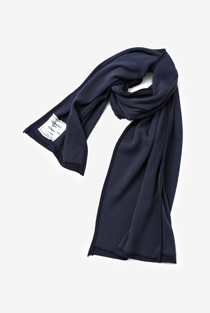 Alabama chanin waffle wrap scarf 1