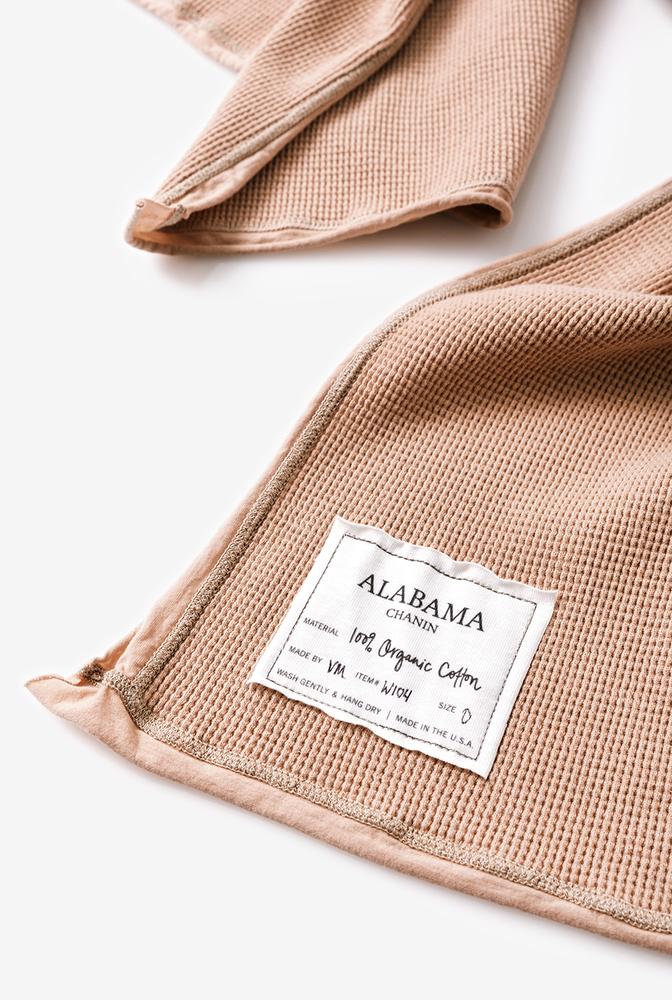 Alabama chanin waffle wrap scarf 2