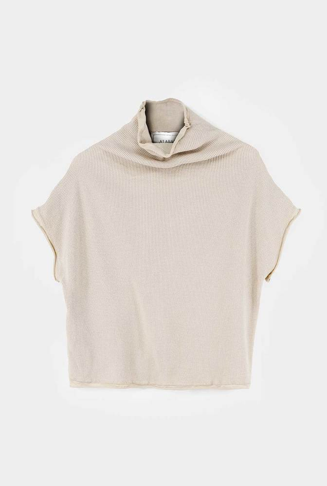 Alabama chanin womens organic cotton waffle sweatshirt top 2