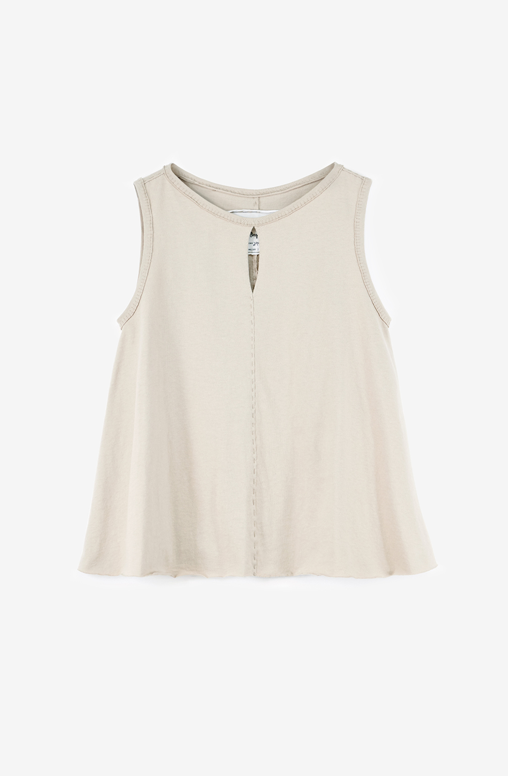 Alabama chanin womens keyhole aline top