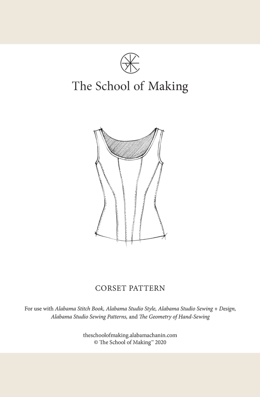 The school of making corset pattern