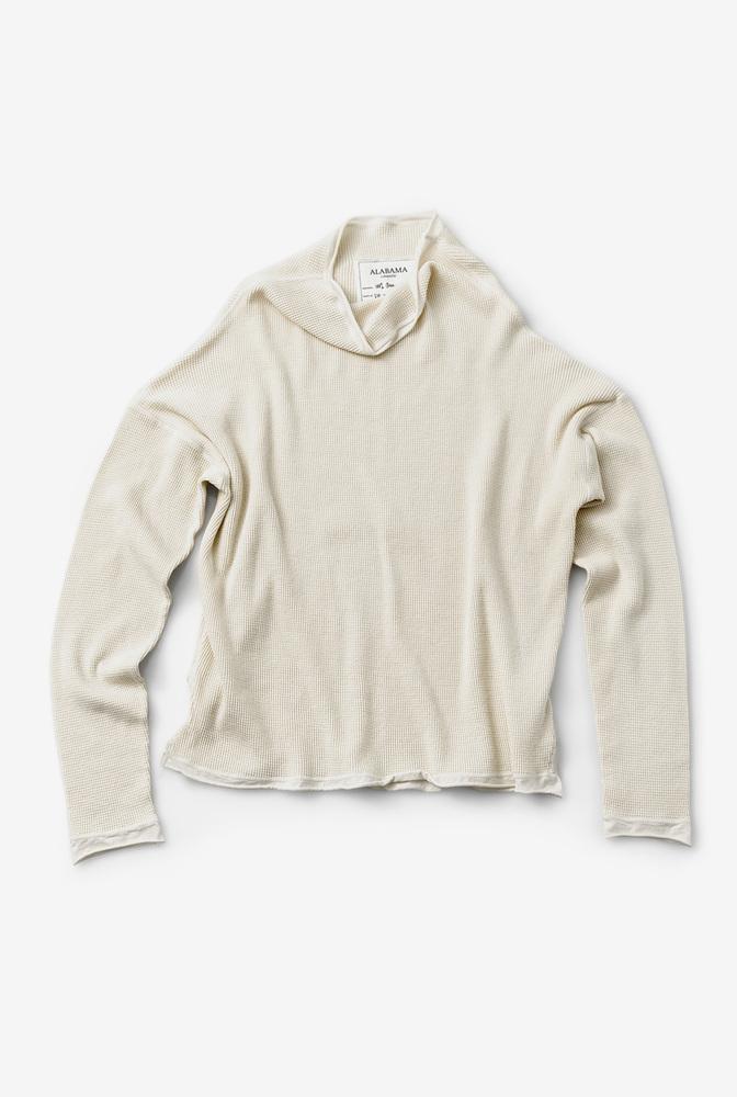 Alabama chanin womens organic cotton waffle sweatshirt top 3