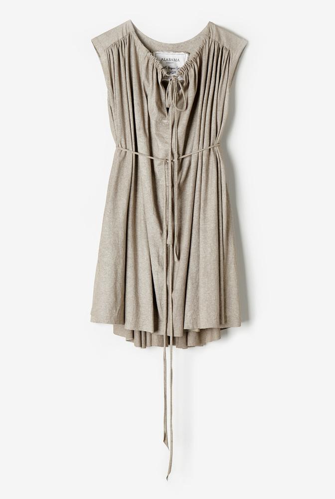 Alabama chanin womens organic cotton shirred lightweight tunic 4