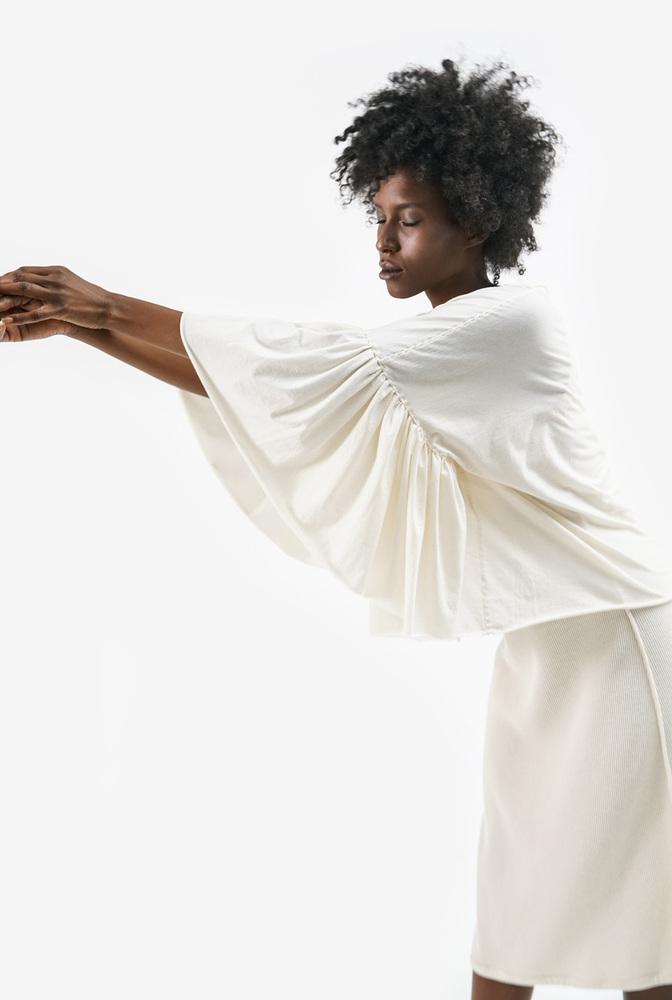 Alabama chanin womens top ruffle sleeves 5