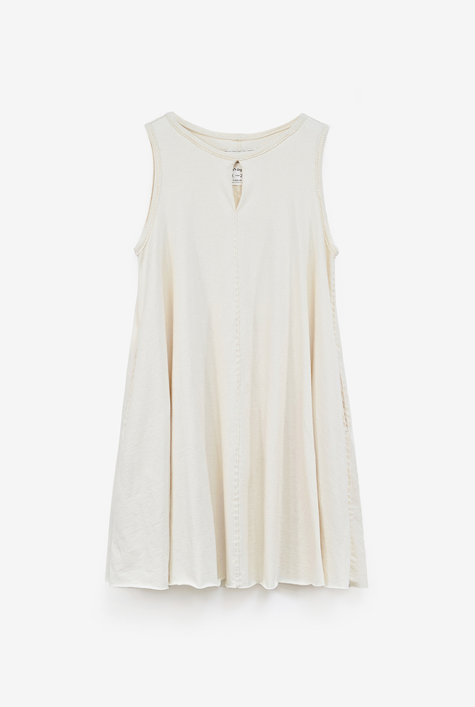 Alabama chanin keyhole cotton womens aline dress 4