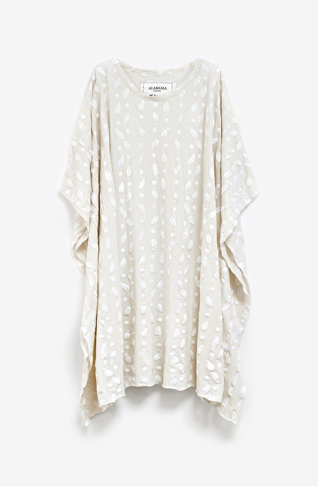 Alabama chanin womens caftan cotton dress 4