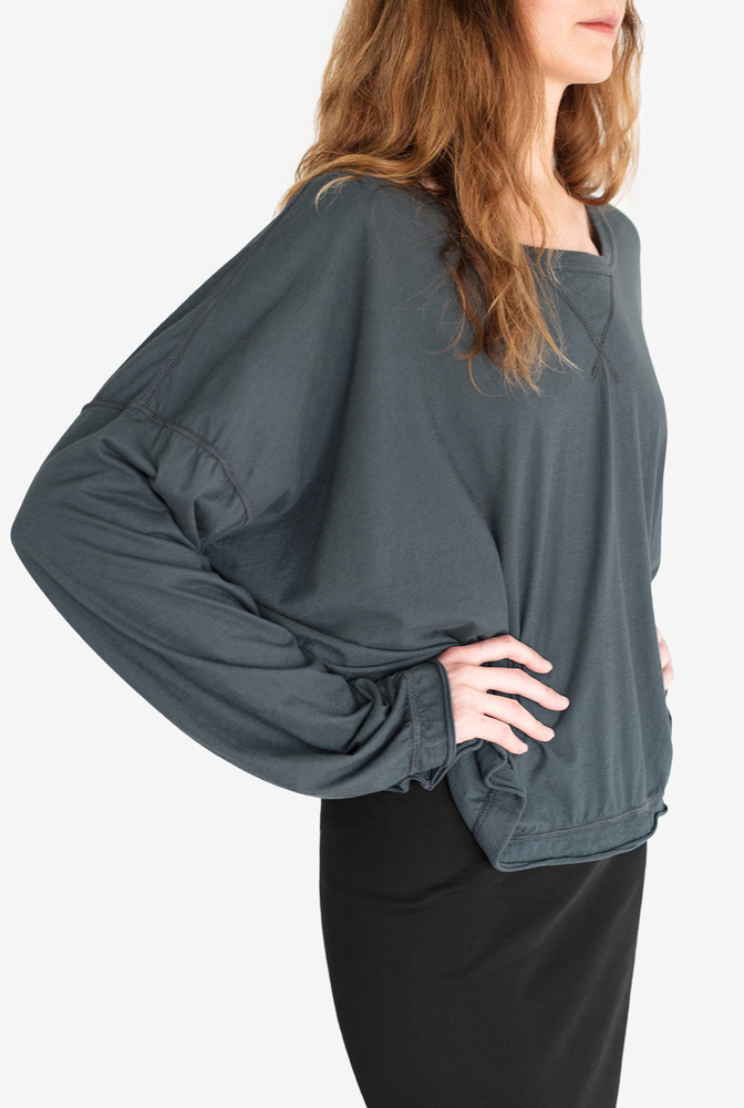 Alabama chanin womens organic cotton relaxed coverup top 3