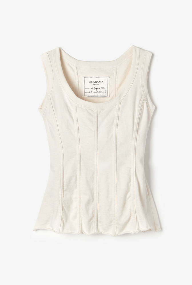 Alabama chanin womens fitted corset organic cotton top 2