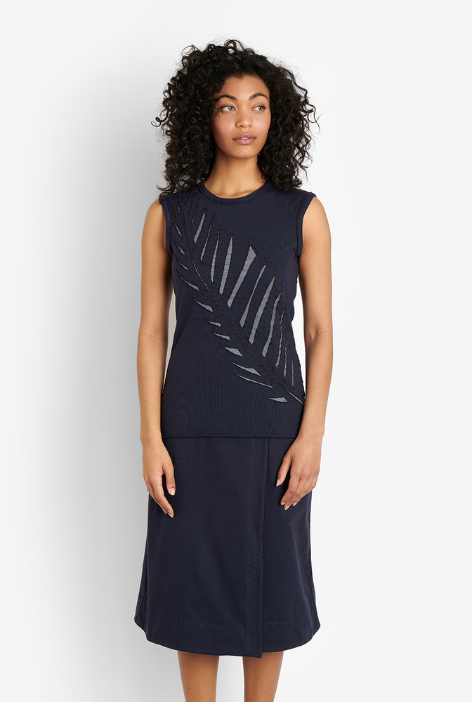 Alabama chanin womens organic cotton wrap skirt 4