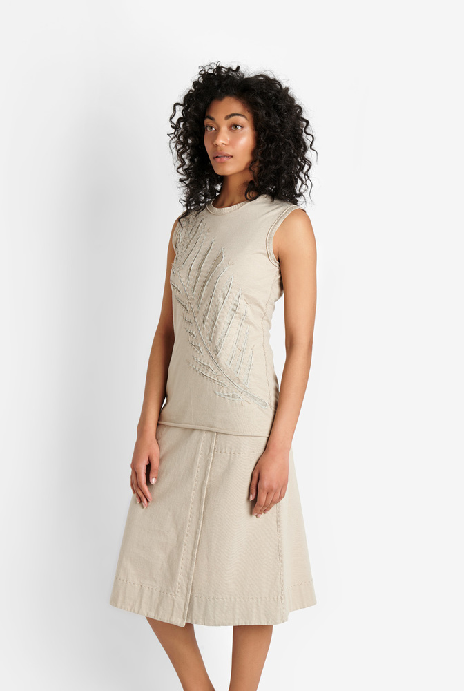 Alabama chanin womens organic cotton wrap skirt