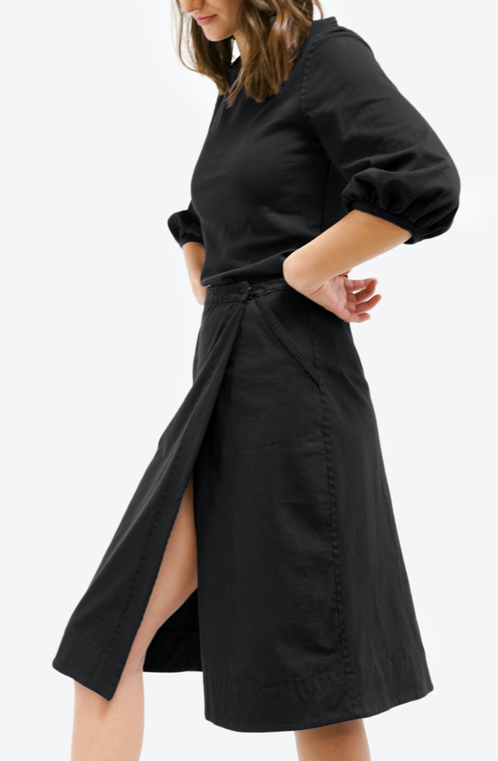 Alabama chanin womens organic cotton wrap skirt 2