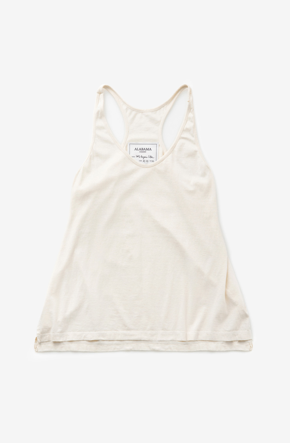 Alabama chanin womens organic cotton racerback tank