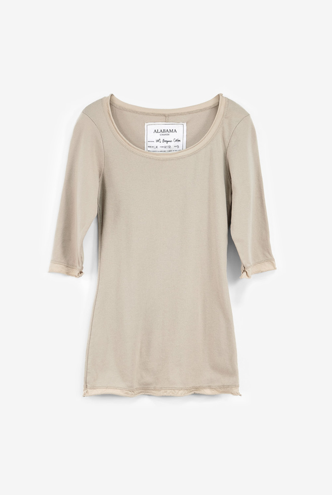 Alabama chanin womens essential rib knit organic cotton top