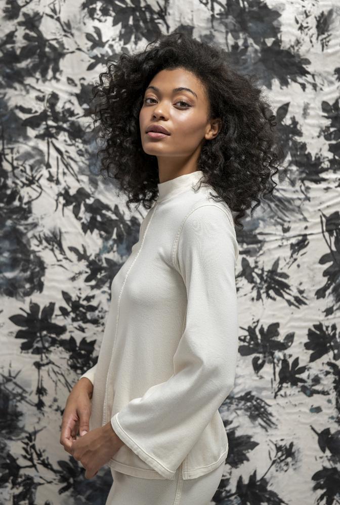 Alabama chanin womens organic cotton rib turtleneck 6