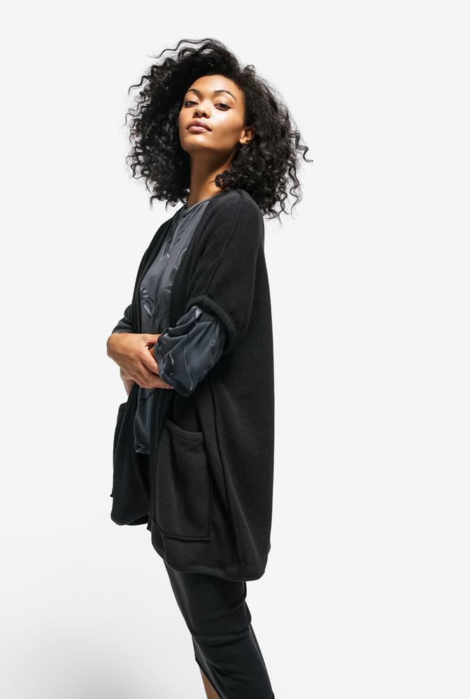 Alabama chanin womens organic cotton waffle vest sweater 2
