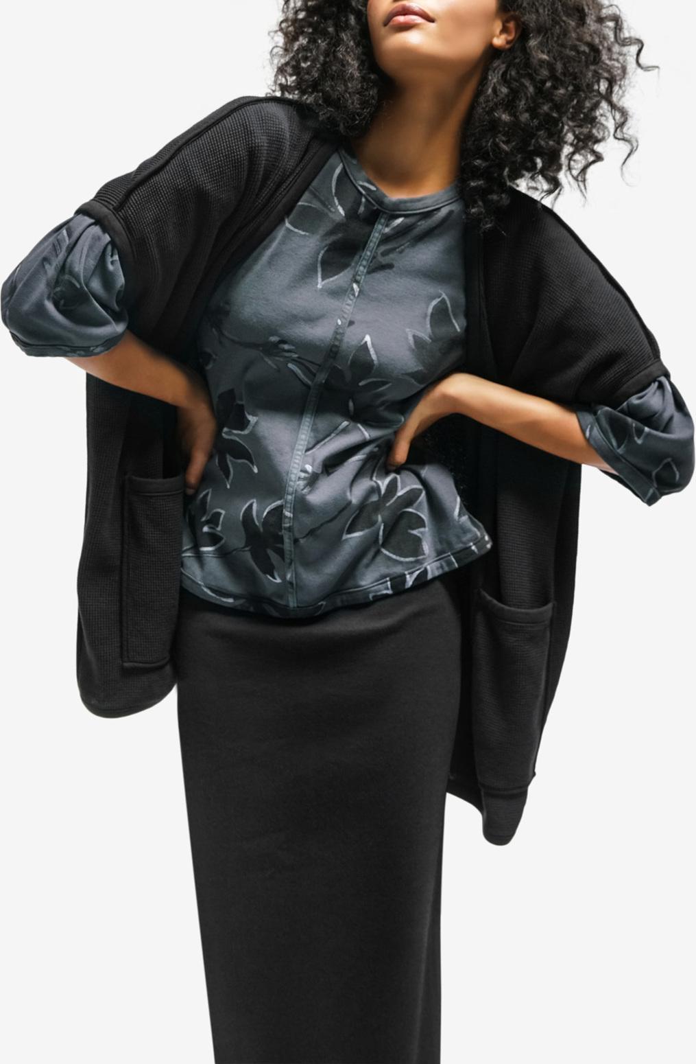 Alabama chanin womens organic cotton waffle vest sweater 4