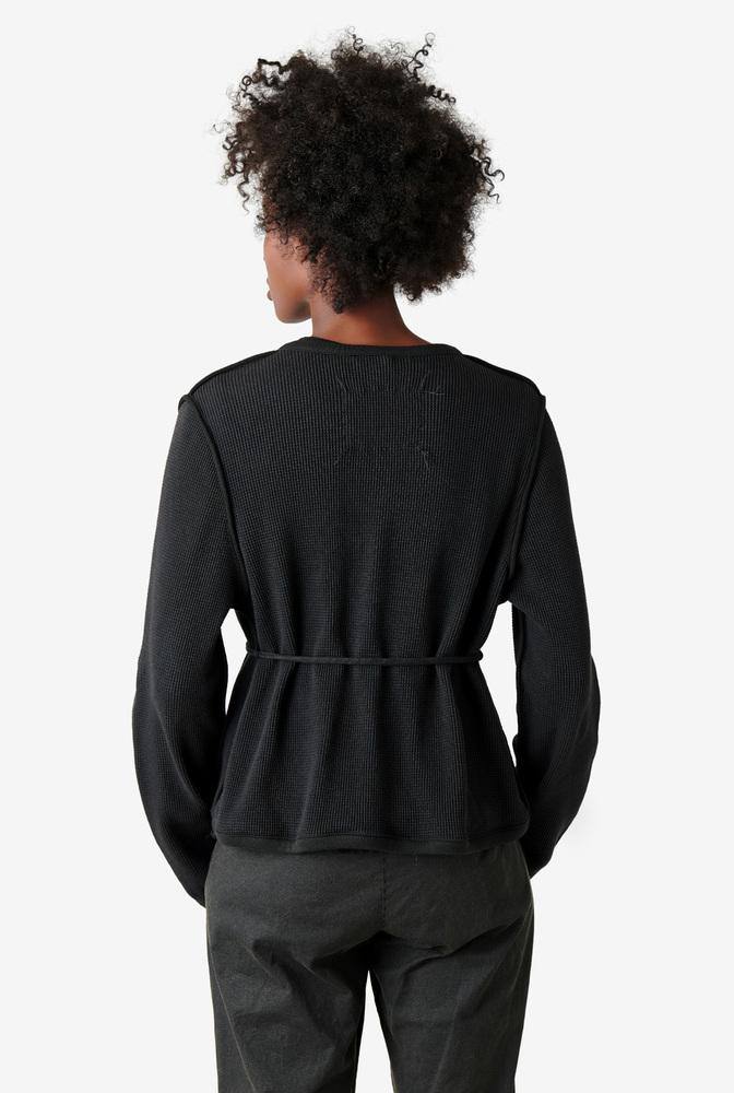Alabama chanin womens organic cotton waffle cardigan sweater 2