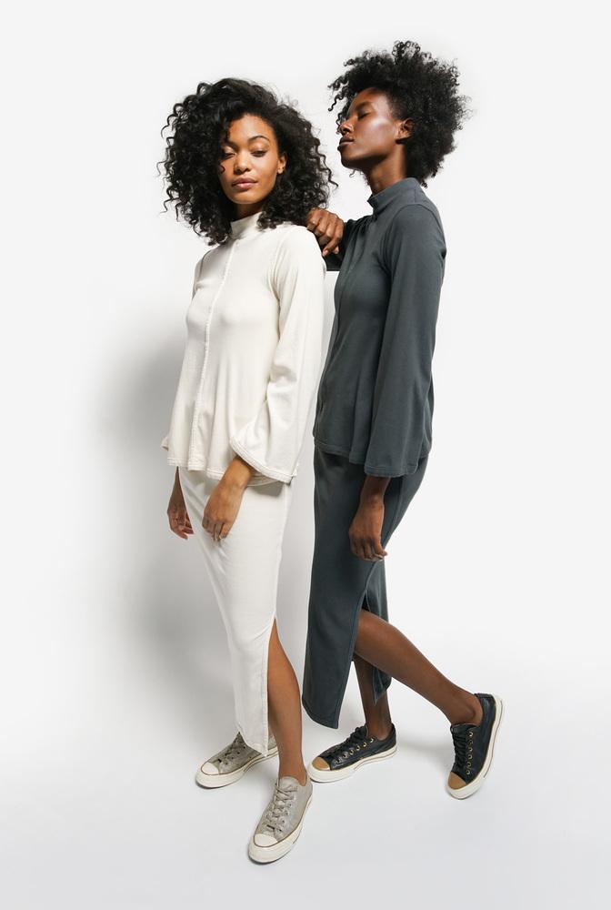Alabama chanin essential skirt organic cotton rib 5