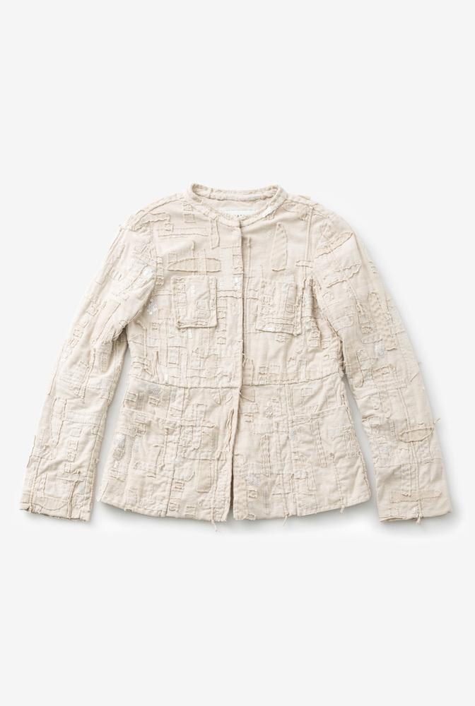 Alabama chanin womens organic cotton tweed jacket 2